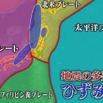 日本のひずみ集中帯