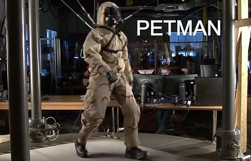 ボストンダイナミクスの人型ロボットPETMAN