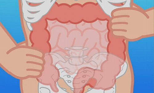 大腸もみ、大腸をもむ場所の画像